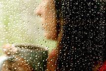 βροχή ανθρωποι