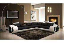 Exceptional Amansah Italian Designer Leather Corner Sofa Suite / Modern Corner Sofa  With Adjustable Head Rests And