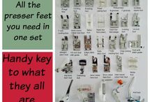 Sewing: Presser Feet / Guides on how to use different presser feet in sewing
