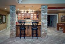 Rustic Home Bar in Johns Creek, GA