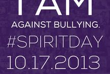 I am against bullying and I'm going purple for #SpiritDay 10/17 / SHARE one of these graphics if you're against bullying and are wearing purple on #SpiritDay 10/17! Change your profile pics now at http://glaad.org/spiritday to show your support for LGBT youth!