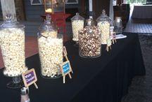 Wedding gourmet popcorn bar Ipop gourmet popcorn Tampa / Wedding gourmet popcorn bars and favors