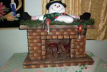 Proyectos que intentar / chimenea navideña