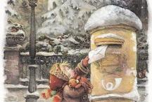 Oude kerstkaarten