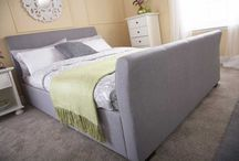 Greys And Blues / Bed frames and bedroom furniture based around a grey and blue colour palette.