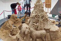 Tierwelt aus Sand