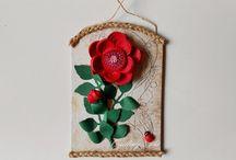 Квиллинг - розы, пионы.