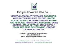 What We Do - Maker Mends LTD / What we do here at Maker Mends LTD, Europes largest service provider to the Jewellery and Watch trade
