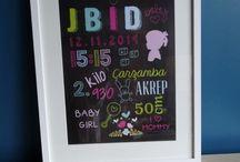 chalkboard- karatahta doğum sertifikası / bebek odası fikirleri