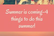 Summer / things to do summer with hacks, tips and fun