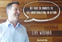 SmartZip Webinars / Real Estate focused Webinars featuring real estate tech tools, tips, CRM, social media and more that help real estate professionals build their business, get listing leads and sell more.