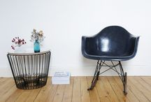 Rocking Chair Eames / Rocking chair vintage Charles & Ray Eames