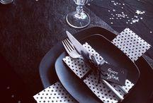 Nytårspynt/borddækning