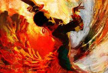 Flamenco in painting