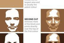 Printmaking / Printing Inspirations and Tutorials.