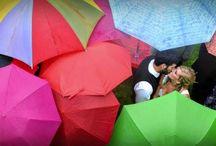 Deszczowe śluby / Wbrew pozorom deszcz nie musi popsuć ślubnej uroczystości - popatrzcie jak może być pięknie!