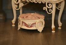 Montheron Dollhouse Miniature Footstools
