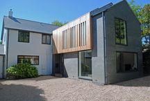 Modern Grey Brick & Timber Clad House Extension in Awbridge