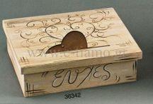 Ξύλινο Κουτί Ευχών για Γάμο ή Βάπτιση Vintage