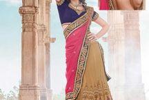 Beautiful collection of georgette lehenga saree