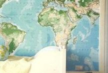 Wereldkaarten | Decorate with maps
