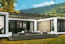Compleks Rubiloft / Wizja połączonych domów mobilnych Rubiloft w jedna dużą rezydencję.