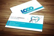 Modele carti de vizita Dentist / Stomatolog / Modele gratuite de carti de vizita pentru medici dentisti / stomatologi.