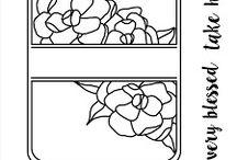 Gardenia Blooms Journaling Card stamp set + die