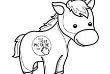Animals coloring pages / Wild animals, zoo animals, farm animals and pets coloring pages.