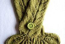 шарфы вязанные