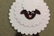 lamb cards, stamps, die cuts, etc
