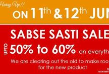 Enasasta Sabse Sasti Sale!Its going to end soon / Hurry UP!! Ena Sasta Sabse Sabse Sasti Sale!! Going On for Two Days. Limted Stock Left!! Buy Now @ www.enasasta.com