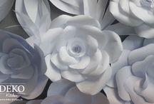 Wanddeko Papier Große Blüten