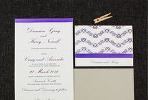 Purple and Lavender Wedding Inspiration / Purple and Lavender Wedding Ideas
