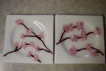 Cherry Blossom / Sakura / Ceramics/ interiors/ design ideas/ textile