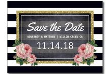 Save the Date / Wedding save the date cards that you should send out as early as possible to let people know the date of your wedding but not the venue.