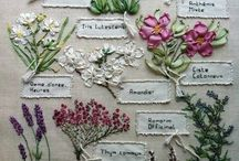 lovely ribbon embroideryy floral sampler