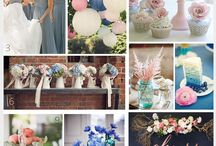 blue and blush pink wedding
