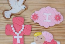 Baptism and First Communion / Decorated cupcakes, cookies and cake pops from Cook N' Bake Lebanon