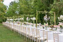 outdoor/garden wedding