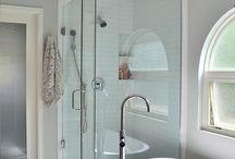 Bathroom light and shower
