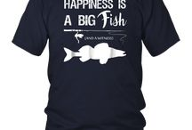 Happiness Is A Big Fish Funny Fishing Shirts