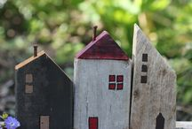wooden houses!