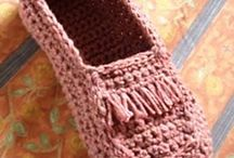 slippers crochet/tricot