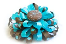 Hair clips, ribbons & flowers