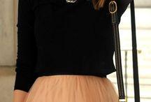 Skirt casual looks