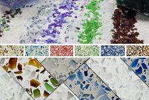 Recycelt Glas // Glasfliese / Oberfläche