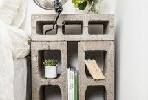 armários com tijolos