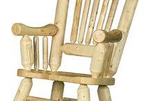 Мебель из стволов и веток