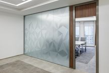Glass partition / Glass, sticker,